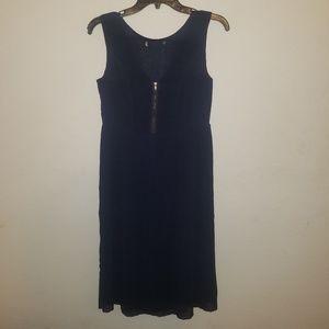 4/$25 Sleeveless Navy Dress w/ zipper chest design